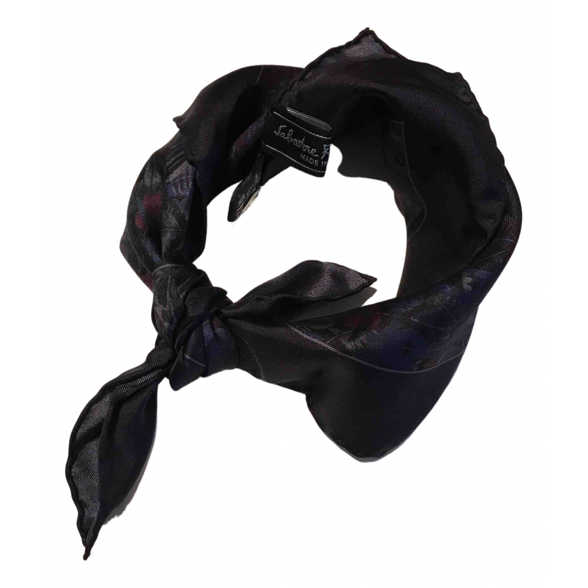 Salvatore Ferragamo N Navy Silk Silk handkerchief for Women N