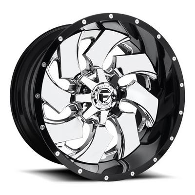 MHT Fuel Offroad Wheels Cleaver D240, 20x9 Wheel with 6 on 135 and 6 on 5.5 Bolt Pattern - Chrome with Gloss Black Lip - D24020909850