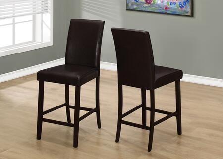 I 1901 40 2 PCS Dining Chair with Tapered Legs  Contemporary Style and Upholstered in