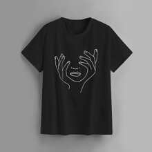 Plus Figure Graphic Short Sleeve Tee