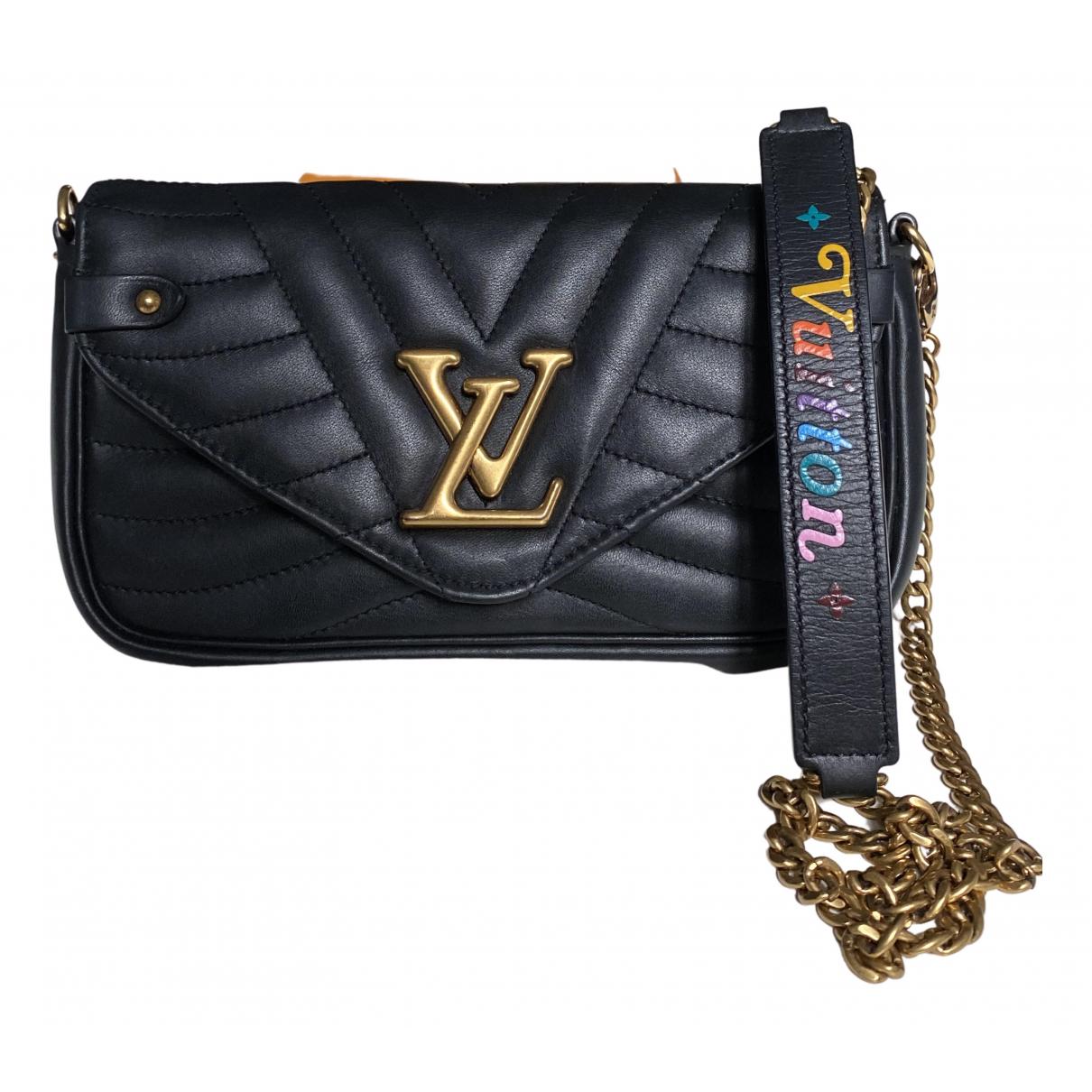 Louis Vuitton - Pochette   pour femme en cuir - noir