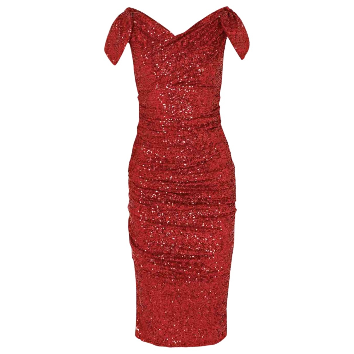 Dolce & Gabbana \N Red Glitter dress for Women 42 IT