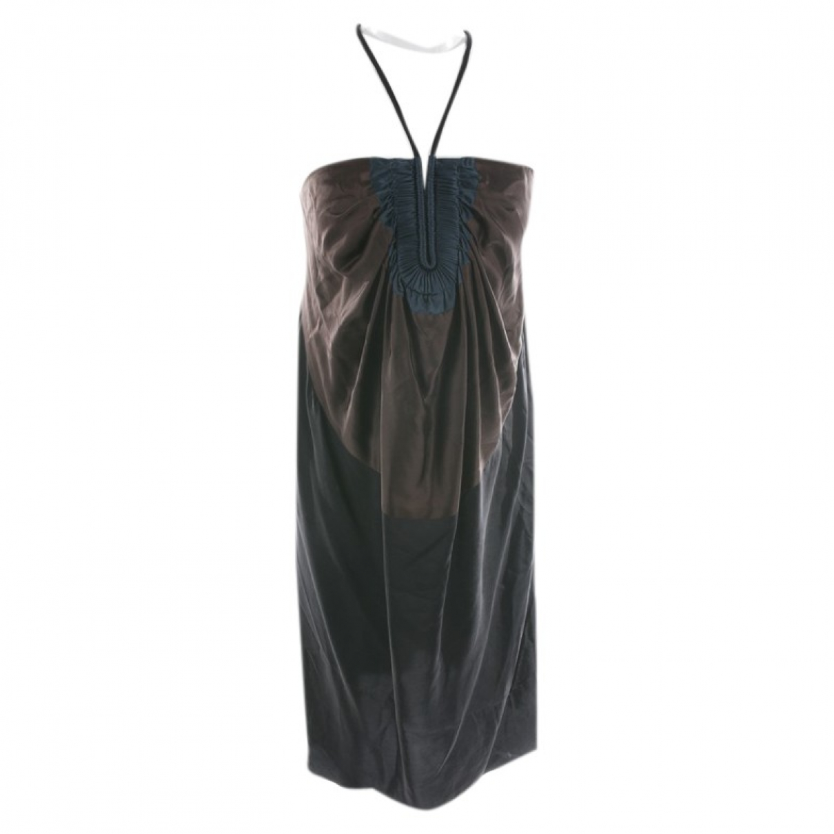 Lanvin \N Brown Silk dress for Women 40 FR