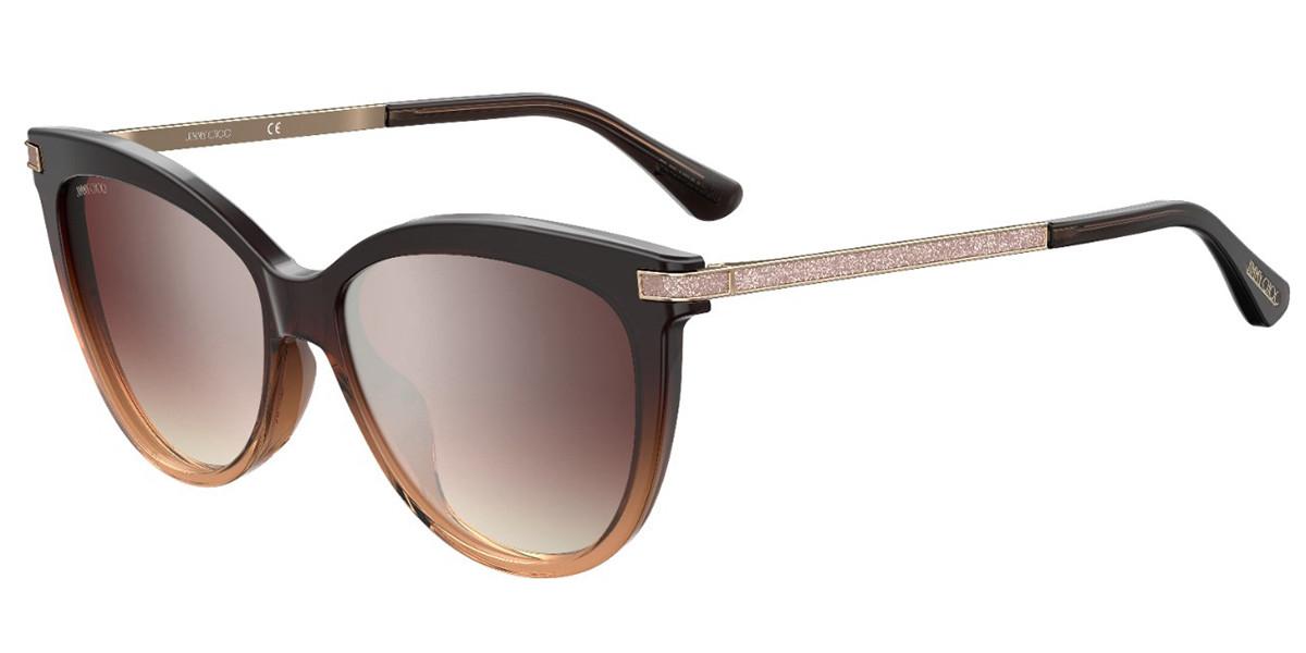 Jimmy Choo AXELLE/G/S 0MY/NQ Women's Sunglasses Brown Size 56