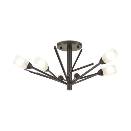 18275/6 Ocotillo 6-Light Semi Flush Mount in Oil Rubbed Bronze with Frosted