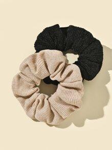 2pcs Simple Plain Scrunchie