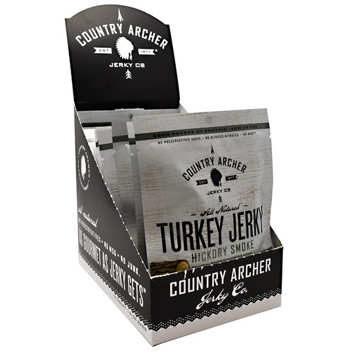 Turkey Jerky Hickory Smoke 12 Count by Country Archer