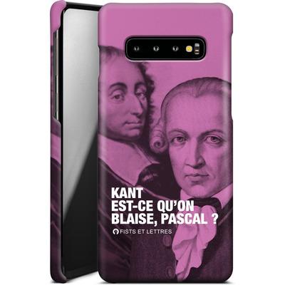 Samsung Galaxy S10 Plus Smartphone Huelle - Kant Blaise Et Pascal von Fists Et Lettres