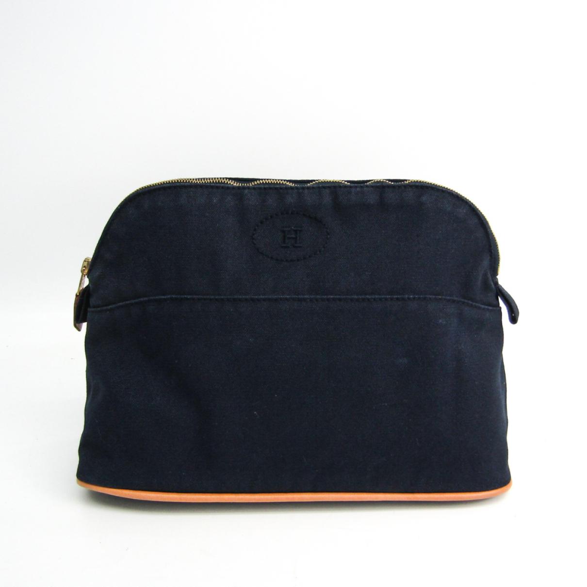 Hermès Bolide Navy Cotton handbag for Women N