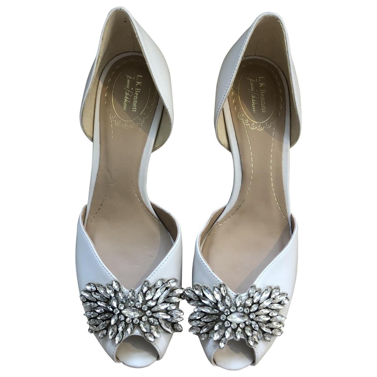 Lk Bennett \N White Leather Heels for Women 39 EU