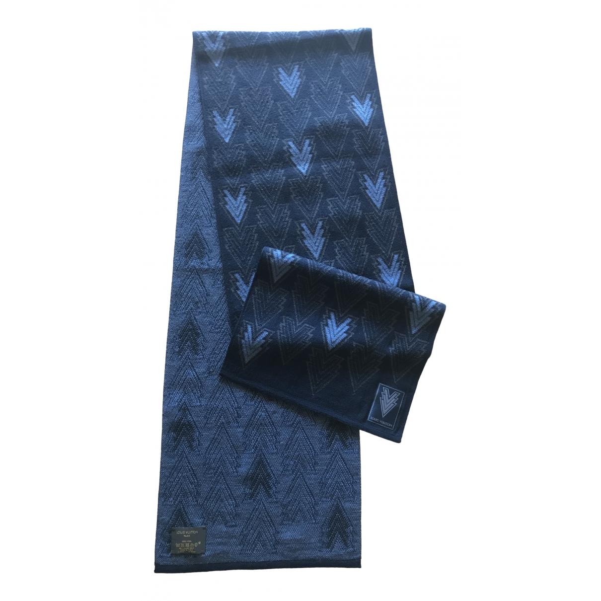 Louis Vuitton - Cheches.Echarpes   pour homme en laine - marine