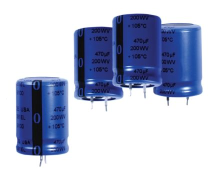 Cornell-Dubilier 470μF Electrolytic Capacitor 200V dc, Through Hole - SLP471M200E1P3 (10)