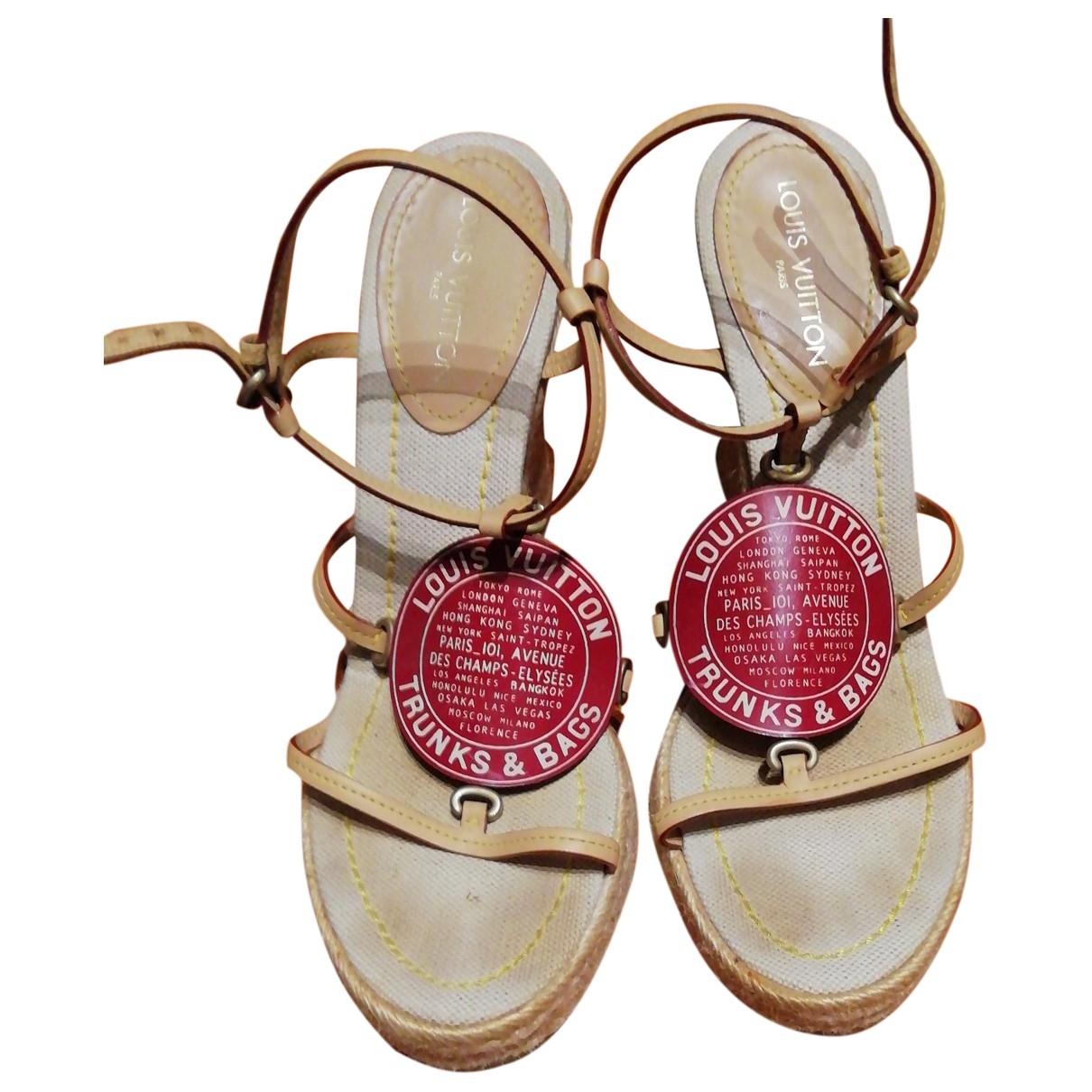 Louis Vuitton - Espadrilles   pour femme en cuir - bordeaux