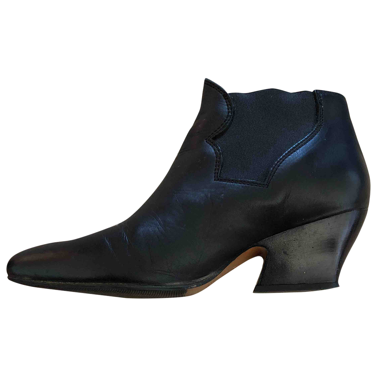 Acne Studios Star Black Leather Ankle boots for Women 36 EU