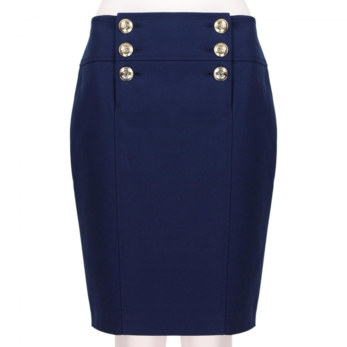 Emilio Pucci \N Blue Cotton skirt for Women 42 IT