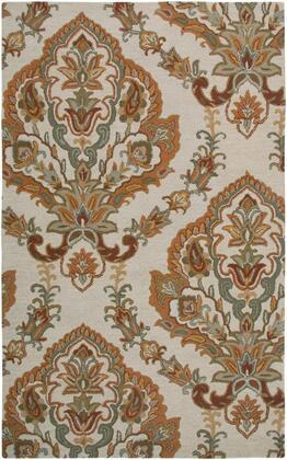 ASHAL266500040508 Ashlyn AL2665-5 x 8 Hand-Tufted New Zealand Wool Blend Rug in Beige  Rectangle