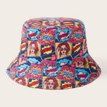Graffiti Pattern Bucket Hat