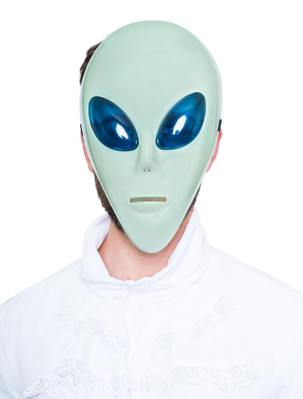 Kostuemzubehor Maske Ausserirdischer gruen