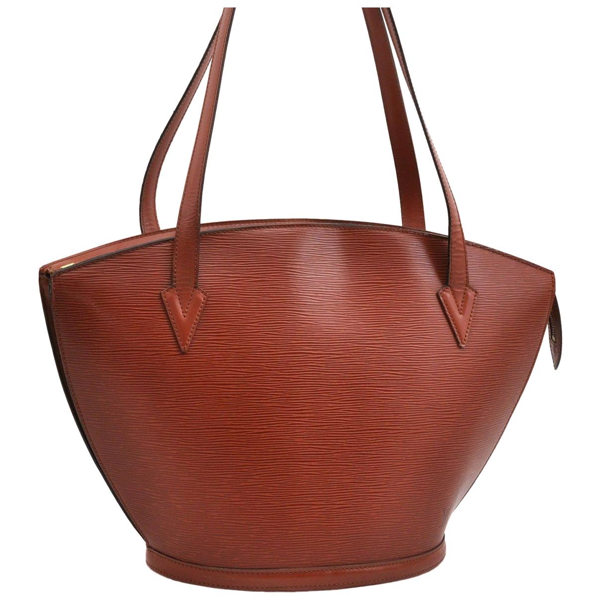 Louis Vuitton - Sac a main Saint Jacques pour femme en cuir - marron