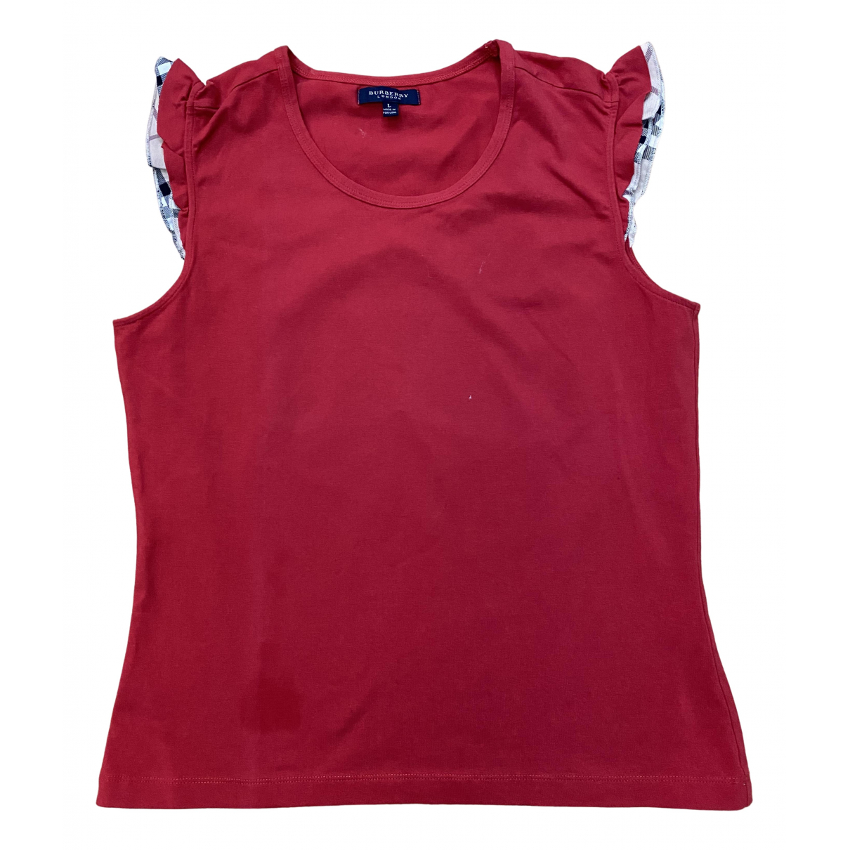 Burberry \N Red Cotton  top for Women L International