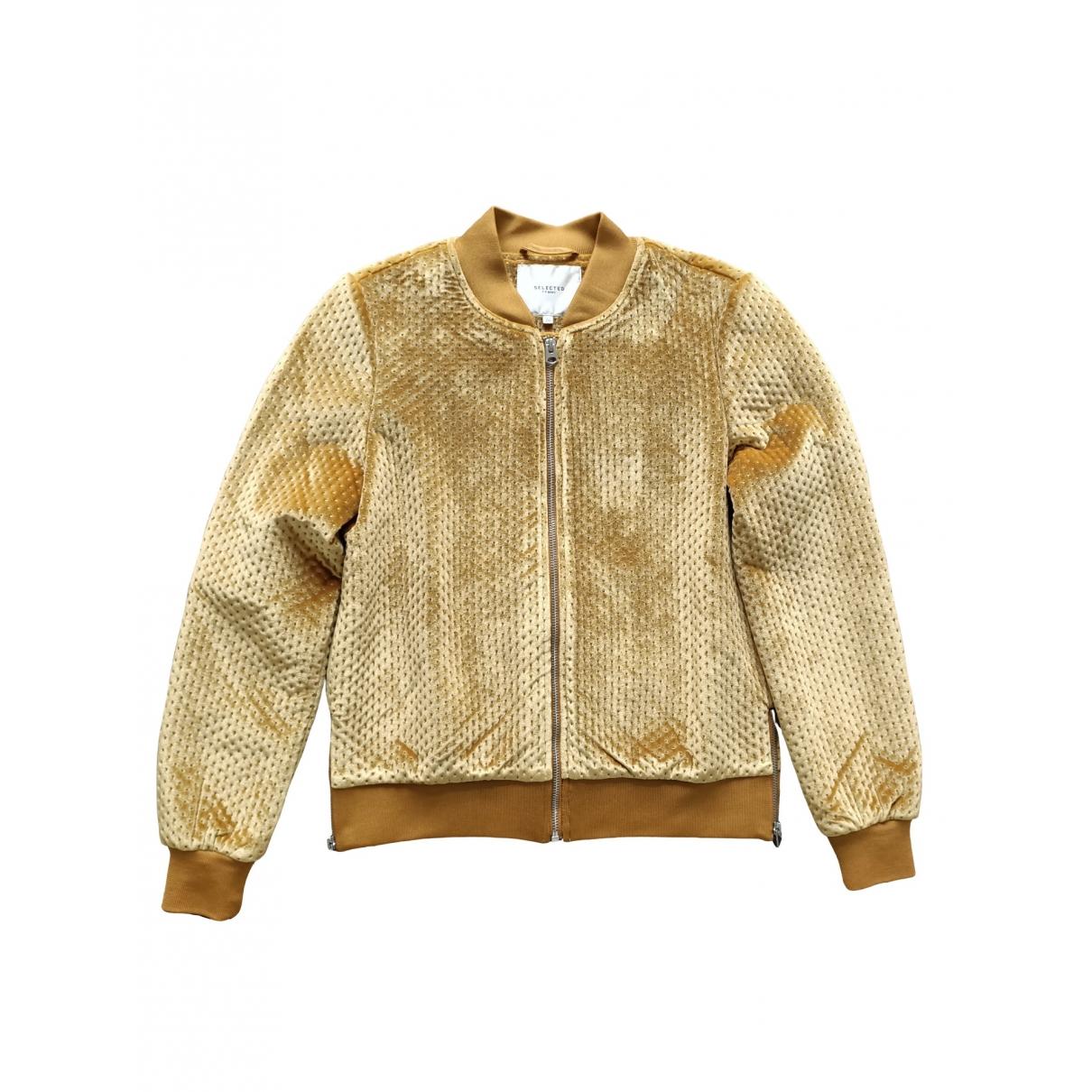 Selected \N Yellow Velvet jacket for Women 36 FR