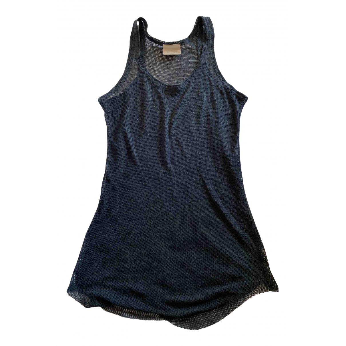 Laneus - Top   pour femme en laine - noir