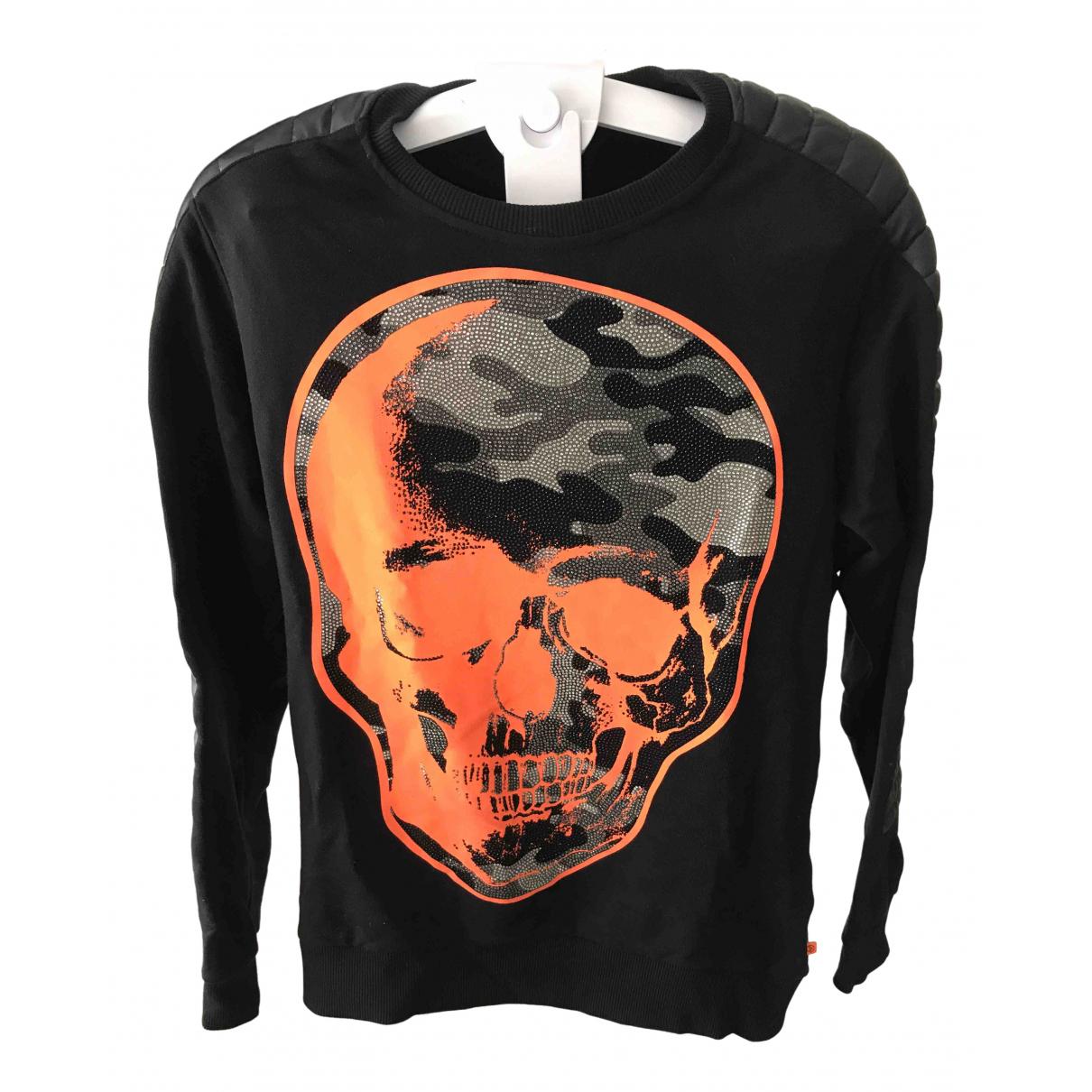 Philipp Plein \N Pullover.Westen.Sweatshirts  in  Schwarz Baumwolle