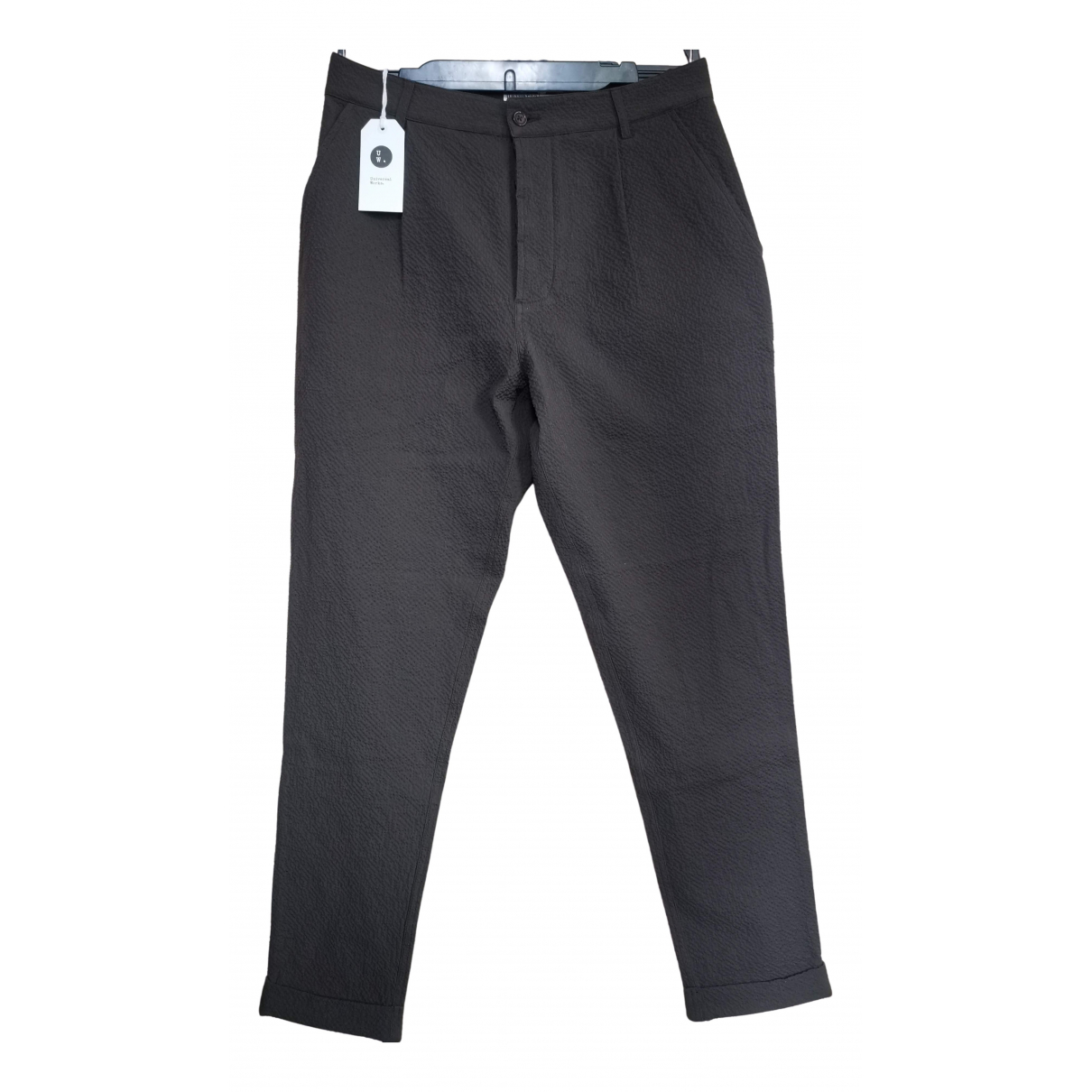 Universal Works \N Brown Cotton Trousers for Men 30 UK - US