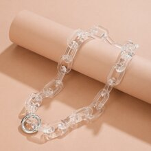 Ring Charm Chain Necklace