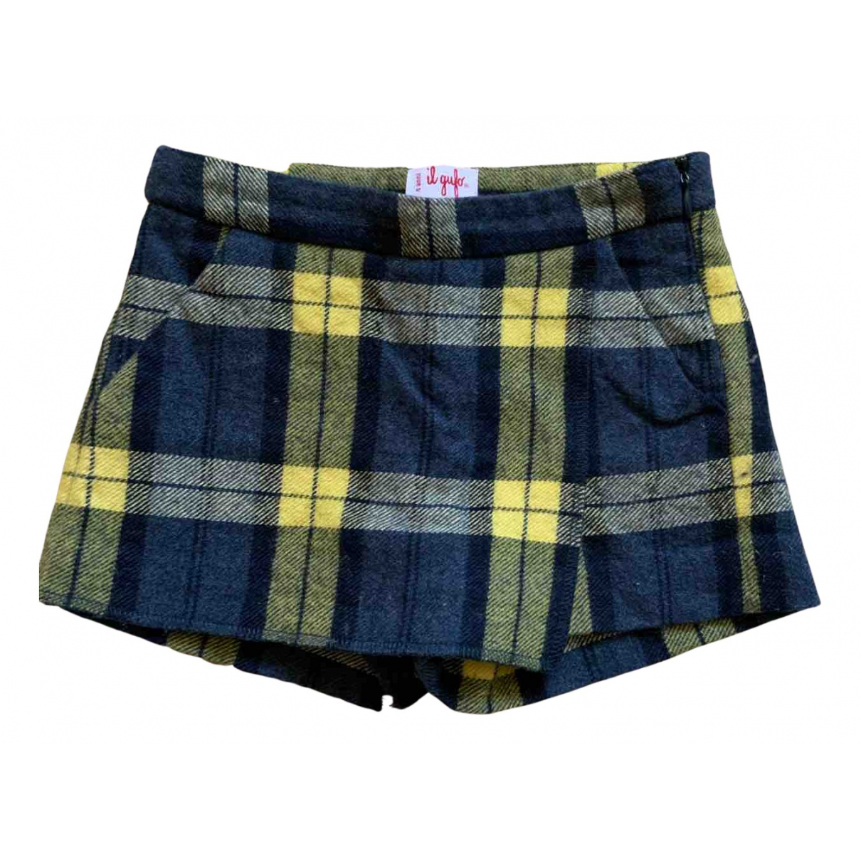 Il Gufo N Blue Wool Shorts for Kids 4 years - up to 102cm FR