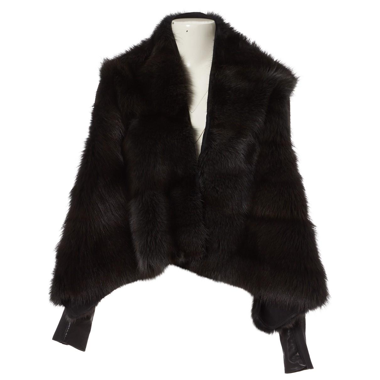 Rick Owens \N Black Fur jacket for Women 36 FR