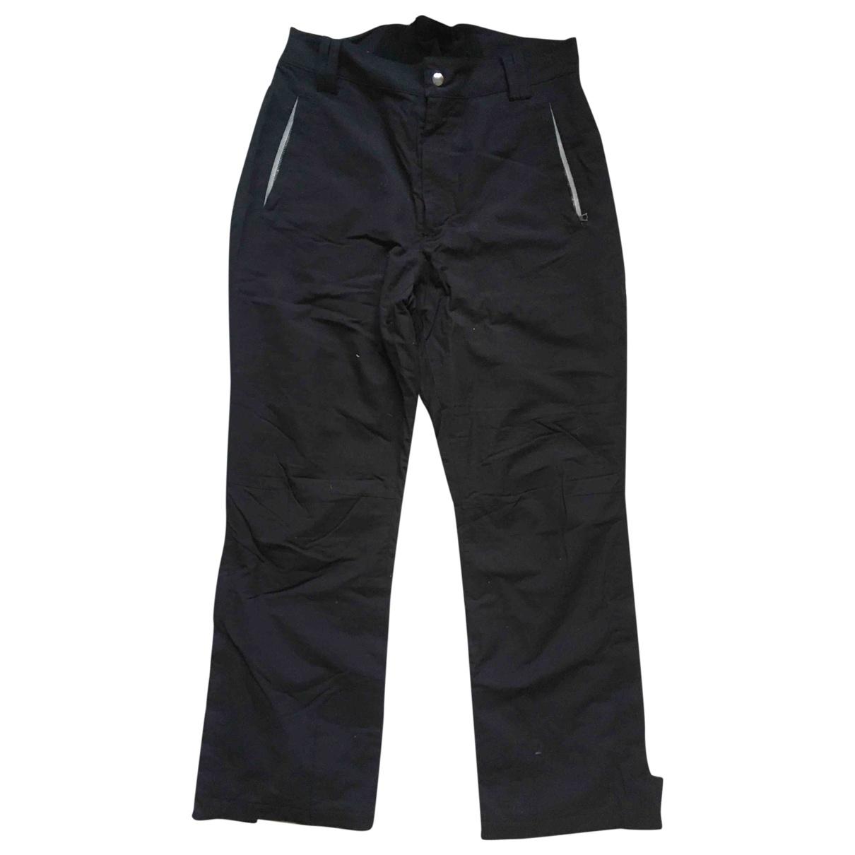 Allard Megeve \N Black Cotton Trousers for Men 46 FR