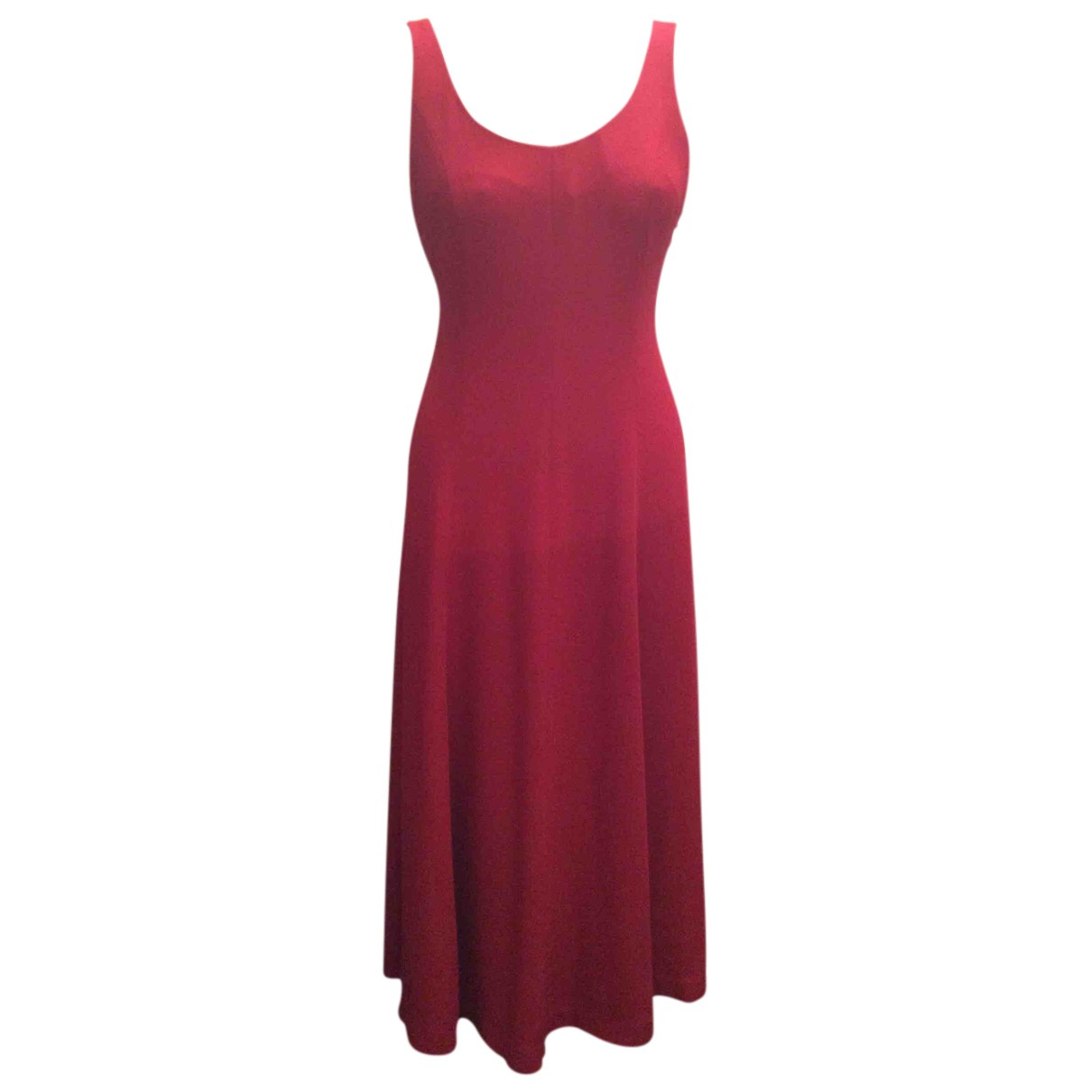 Non Signé / Unsigned N Red Silk dress for Women 42 IT