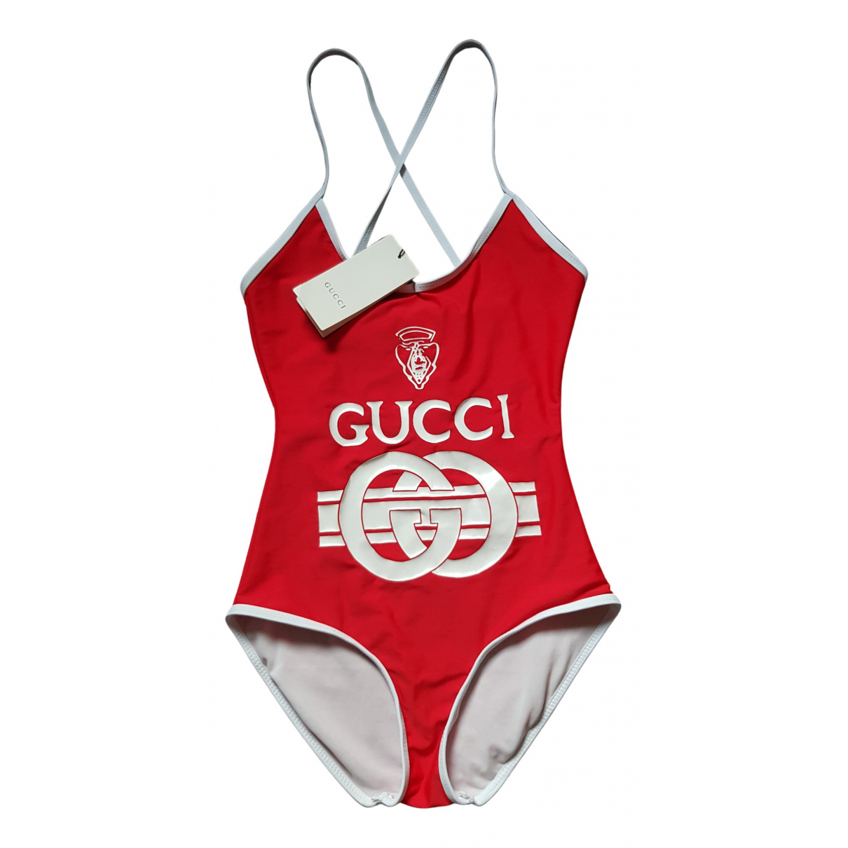 Gucci \N Badeanzug in  Rot Polyester