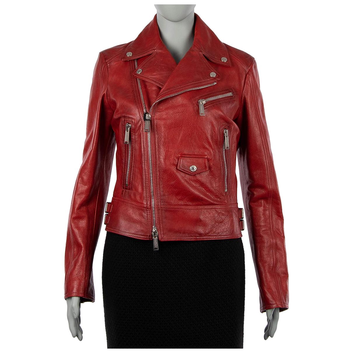 Dsquared2 - Veste   pour femme en cuir - rouge