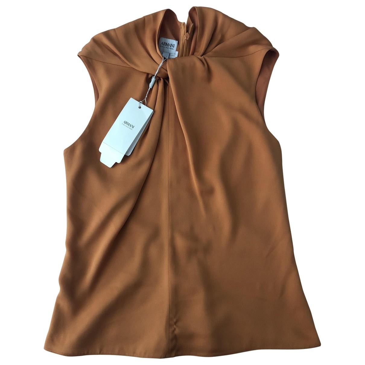 Armani Collezioni \N Orange Silk  top for Women 38 IT