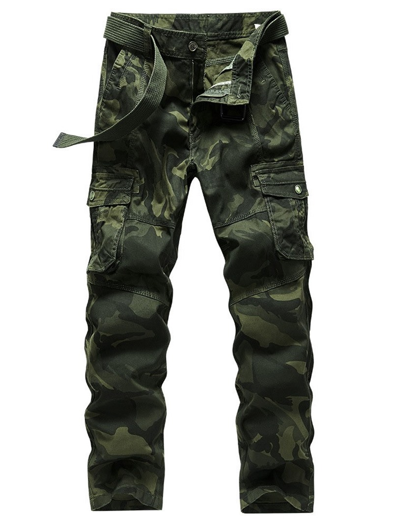 Ericdress Camouflage Straight Print Zipper Men's Casual Pants