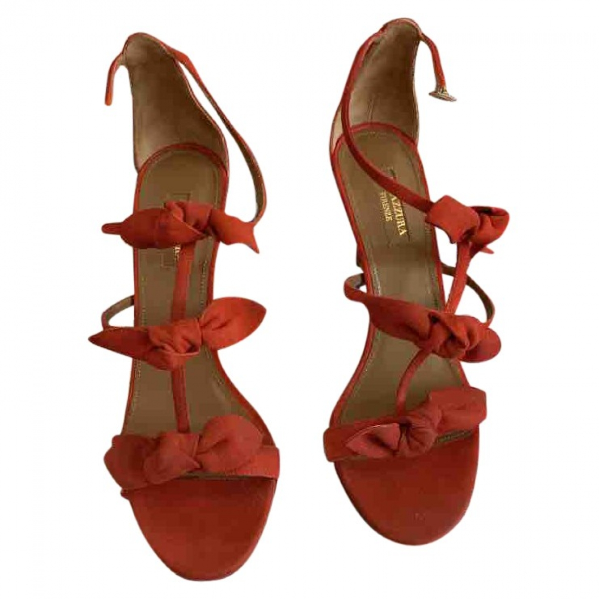 Aquazzura \N Red Suede Heels for Women 39 EU