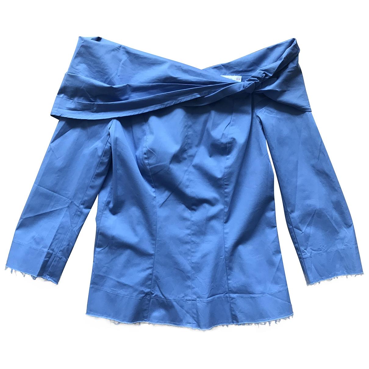 Finery - Top   pour femme en coton - bleu