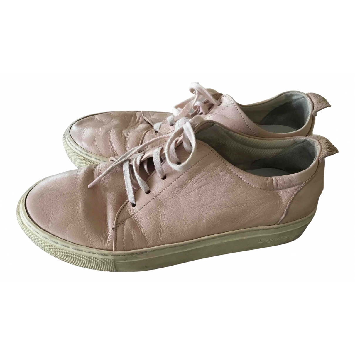 Repetto N Pink Leather Trainers for Women 36 EU