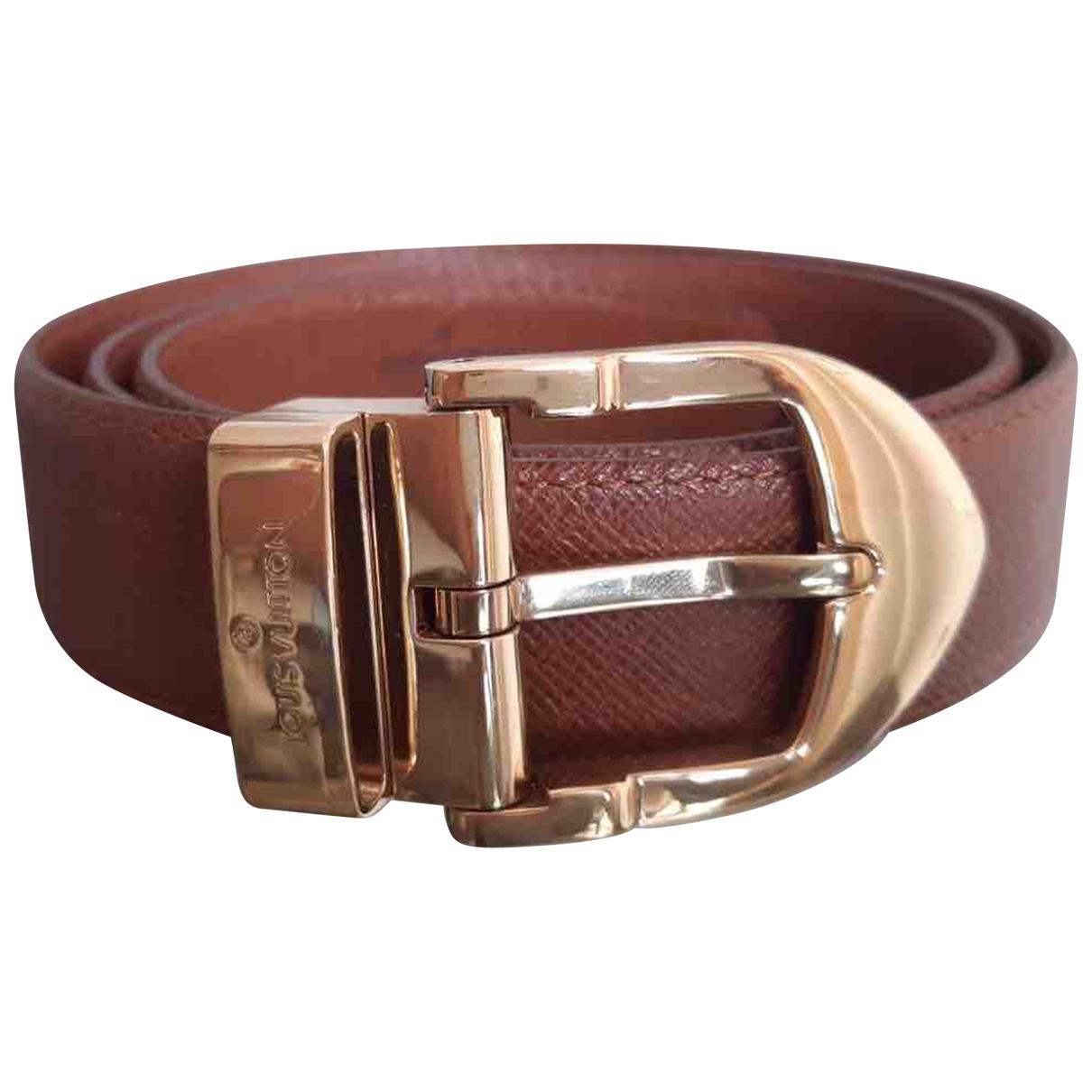 Louis Vuitton \N Brown Leather belt for Women 85 cm