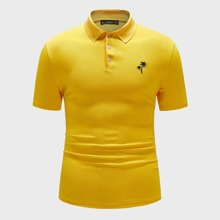Maenner Polo Shirt mit Muster