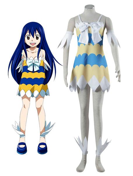 Milanoo Fairy Tail Wendy Marvell Halloween Cosplay Costume Halloween