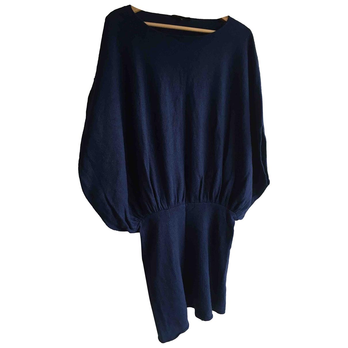 Maje \N Kleid in  Blau Wolle