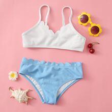 Bañador bikini ribete en abanico
