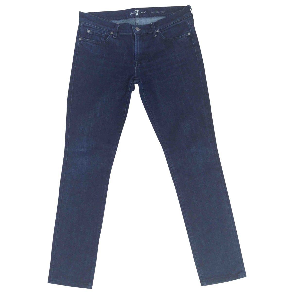 7 For All Mankind \N Blue Cotton Jeans for Women 30 US