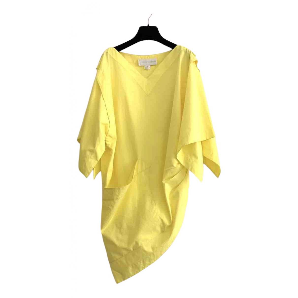Claude Montana \N Kleid in  Gelb Baumwolle
