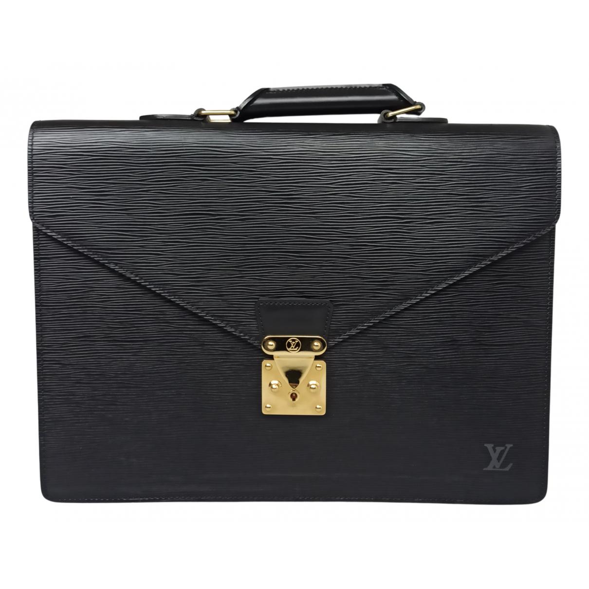 Louis Vuitton - Sac Kourad pour homme en cuir - noir