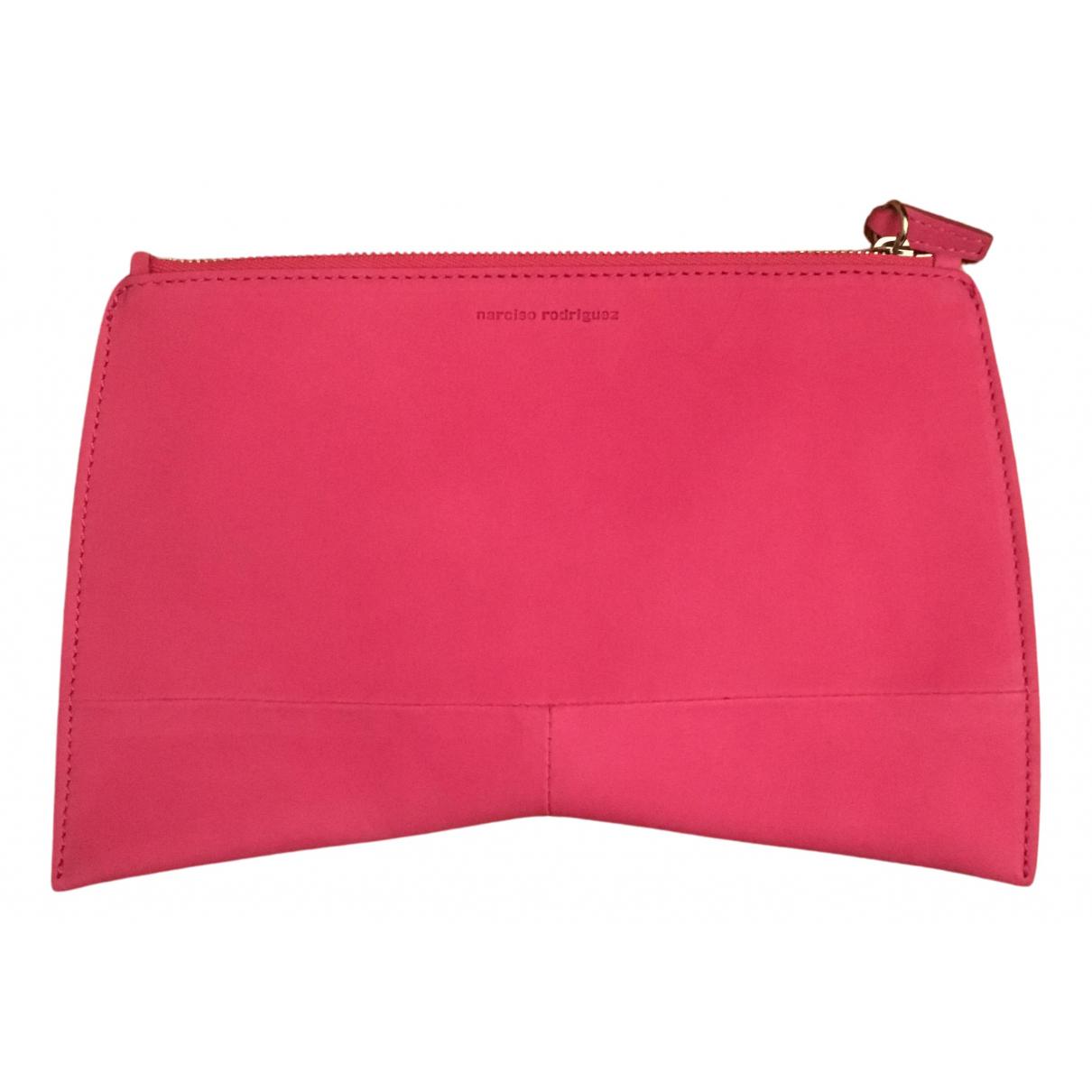 Narciso Rodriguez - Pochette   pour femme en cuir - rose