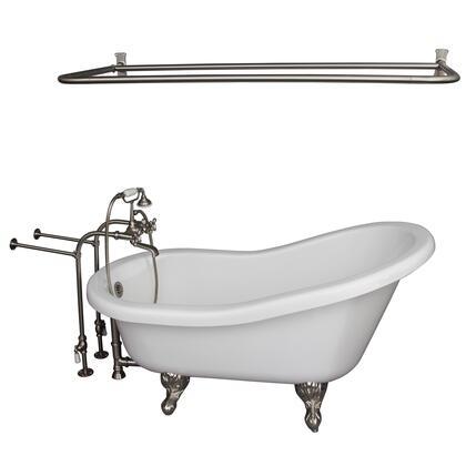 TKADTS60-WBN6 Tub Kit 60 AC Slipper  Shower Rd  Filler  Supplies  Drain-Brush